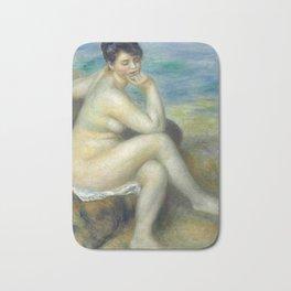 "Auguste Renoir ""Baigneuse accoudée"" Bath Mat"