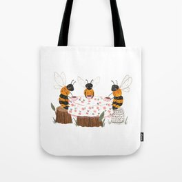 Bees Having Tea Tote Bag