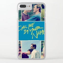 Call Me By Your Name Clear iPhone Case