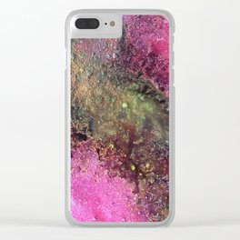 """Abstract Original Painting """"Magenta Ocean"""", Contemporary Artist Abstract Artwork, Mixed Media Clear iPhone Case"""