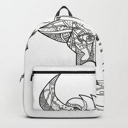 Pinzgauer Bull Head Front Doodle Art Backpack