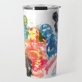 Iconic Comic Book Super Heroes ft. Iron Man  Travel Mug