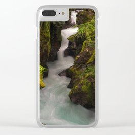 Avalanche Falls Clear iPhone Case