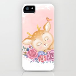 Cute little deer iPhone Case