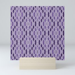 Fragmented Diamond Pattern in Violet Mini Art Print