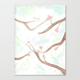 Simplistic Cherry Blossoms Canvas Print