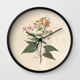 Honesty - botanical Wall Clock