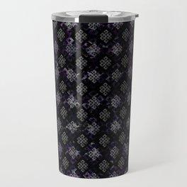 Endless Knot pattern - Silver and Amethyst Travel Mug
