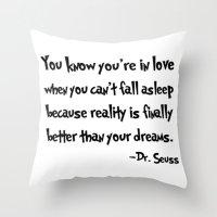 dr seuss Throw Pillows featuring -Dr. Seuss. by S J A E