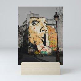 Dali Street Art Mini Art Print