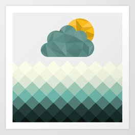 Sea Polygons Art Print