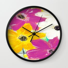 Every Day Floral Wall Clock