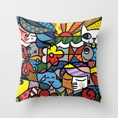 Abstract Digital Art Throw Pillow