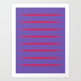 Violet and red Art Print