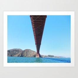 Golden Gate Shadow Art Print