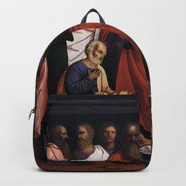 Giovanni Agostino da Lodi - Christ Washing the Disciples' Feet Backpack