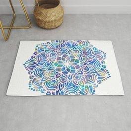 Mandala Little Mermaid Ocean Blue Rug