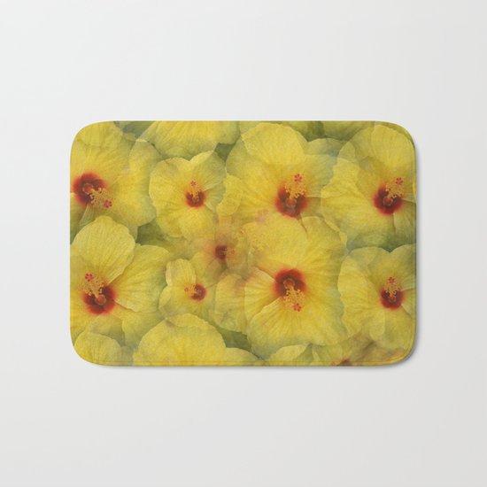 Yellow Hibiscus Bath Mat