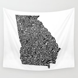 Typographic Georgia Wall Tapestry