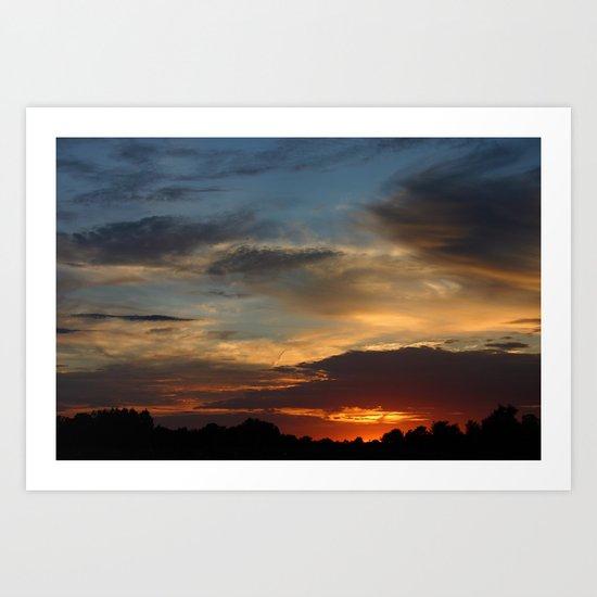 Warm Summer Sunset Art Print
