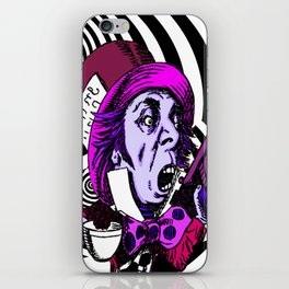 The Hatter with Alice iPhone Skin