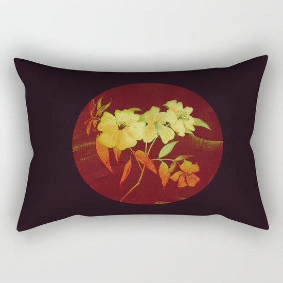 floral in Asian feel Rectangular Pillow