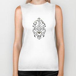 Vulnera Confidebat coat of arms black Biker Tank