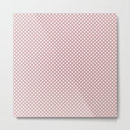 Bridal Rose and White Polka Dots Metal Print