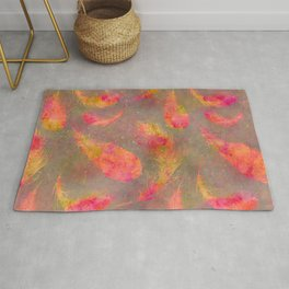 Feather pink and orange Rug