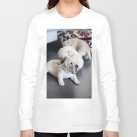 labrador Long Sleeve T-shirts featuring Labrador Puppy by Diandra