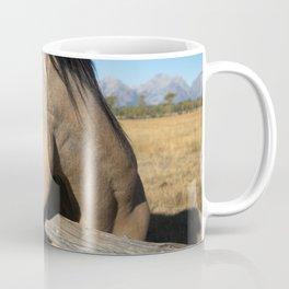 Shy - Horse Plays Coy in Western Wyoming Coffee Mug