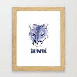 Watercolor Tukwut Framed Art Print