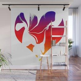 Flowing Heart Wall Mural