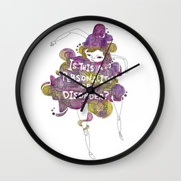 Personality or Disorder Wall Clock