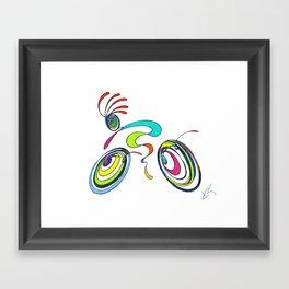 Bicycle - Kokopelli rides again Framed Art Print