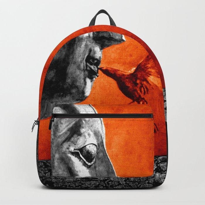 BUDDHA KISS - frame orange black version Backpack