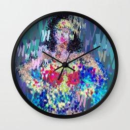 Wonder Type Woman - Abstract Pop Art Comic Wall Clock