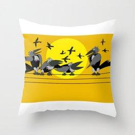 Funny bird Throw Pillow