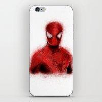 spider man iPhone & iPod Skins featuring Spider-Man by KitschyPopShop