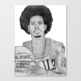 Allen Iverson Rookie Year Portrait Canvas Print