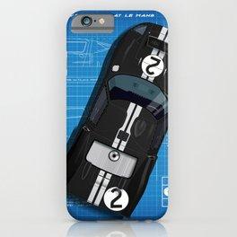 GT40 Le Mans 1966 Blueprint iPhone Case