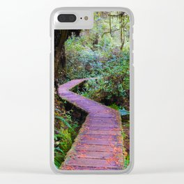 Rainforest Trail, Vancouver Island BC Clear iPhone Case