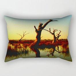 Sculptures in the Swamp Rectangular Pillow