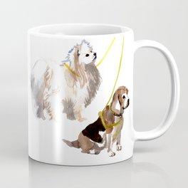 watercolor dog vol4 eskimo and beagle Coffee Mug