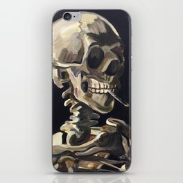 Vincent van Gogh- Skeleton Smoking a Cig (Recreation) iPhone Skin