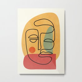 Abstract Face 20 Metal Print