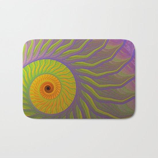 Fantasy Nautilus shell abstract Bath Mat