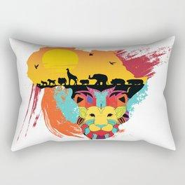 LION KING OF THE JUNGLE Rectangular Pillow