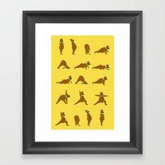 Yoga Bear - Classic Framed Art Print