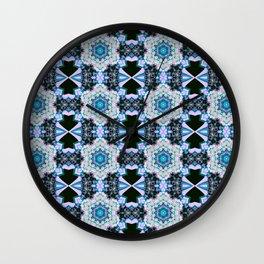 Cerulean Grid Wall Clock